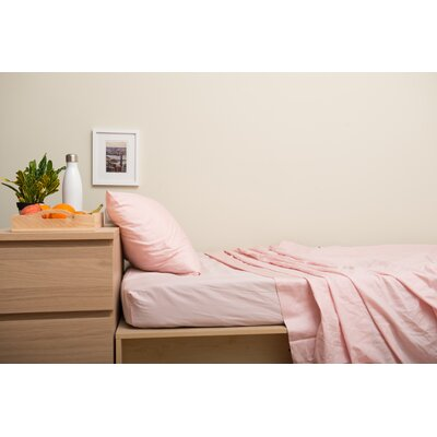 Dade 200 Thread Count Flannel Sheet Set Color: Rose Quartz Pink