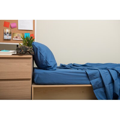 Dade 200 Thread Count Flannel Sheet Set Color: Riverside Blue