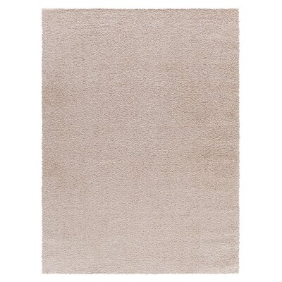 Gassin Shag Beige Area Rug Rug Size: Rectangle 4 x 6