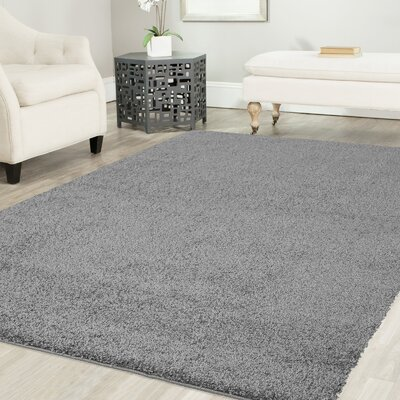Gassin Shag Gray Area Rug Rug Size: Rectangle 8 x 10