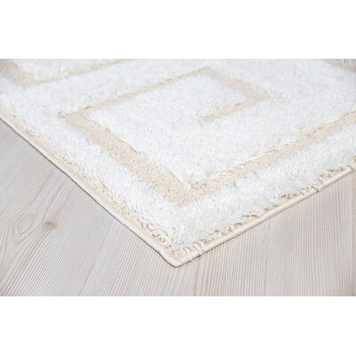 Ruiz Modern Shag White/Gray Area Rug Rug Size: Rectangle 5 x 8