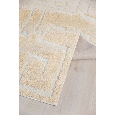Ruiz Moroccan Shag Beige/White Area Rug Rug Size: Rectangle 5 x 8