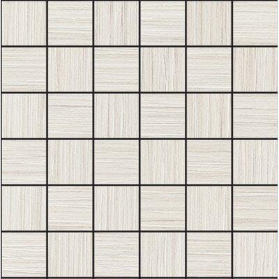Bamboo 2 x 2 Porcelain Mosaic Tile in Creme Linen
