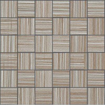 Bamboo 2 x 2 Porcelain Mosaic Tile in Gris Linen