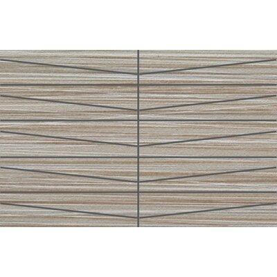 Bamboo Oblong 12 x 24 Porcelain Mosaic Tile in Gris Linen