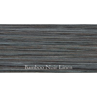 Bamboo 12 x 24 Porcelain Field Tile in Noir Linen