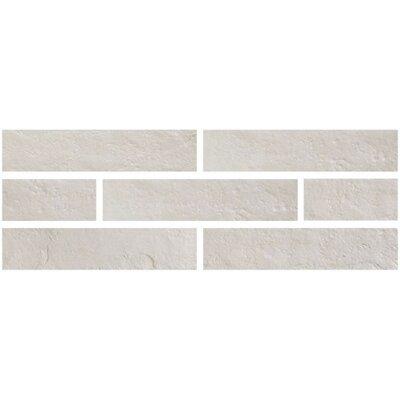 Brick One 3 x 12 Porcelain Subway Tile in Bianco Manhattan
