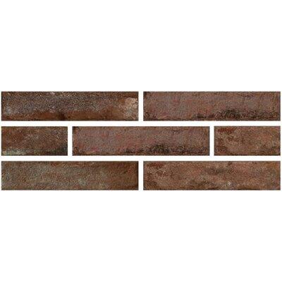Brick One 3 x 12 Porcelain Field Tile in Rosso Berlino