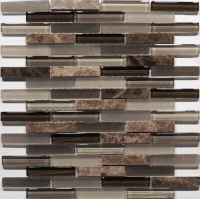 Bar Mix Castano 0.63 x 3 Natural Stone Mosaic Tile in Chocolate