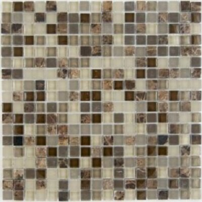 Mix Castano 0.63 x 0.63 Natural Stone Mosaic Tile in Chocolate