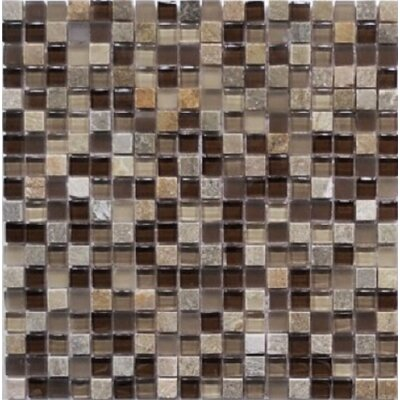 Quartz 0.63 x 0.63 Natural Stone Mosaic Tile in Chocolate