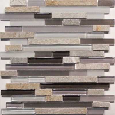 Bar 0.63 x 0.63 Natural Stone Mosaic Tile in Gray