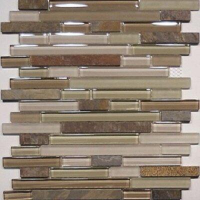 Bar Random Sized x 0.63 Natural Stone Mosaic Tile in Riverstone