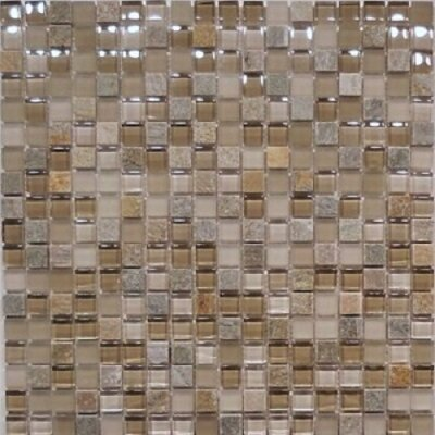 0.63 x 0.63 Natural Stone Mosaic Tile in Sandstone