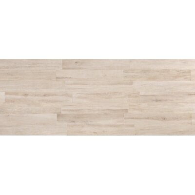 Travel 6 x 48 Porcelain Wood Look Tile in North White