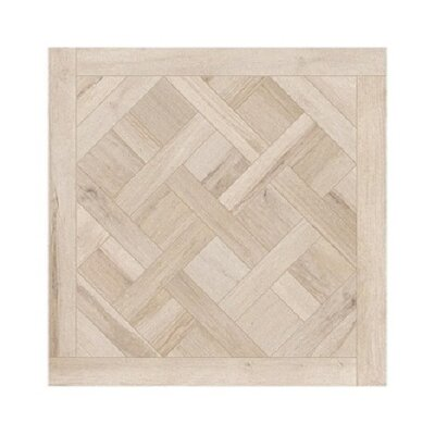Travel Cassettone Decor 24 x 24 Porcelain Wood Look Tile in North White