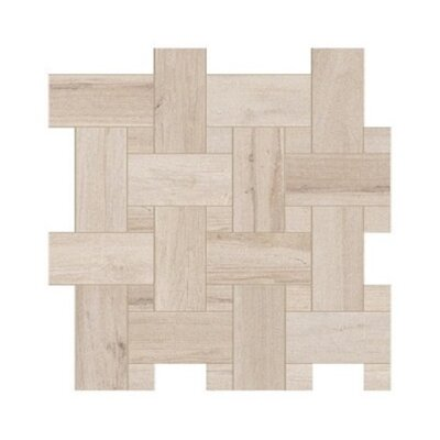 Travel Intreccio D�cor 12 x 12 Porcelain Wood Look Tile in North White