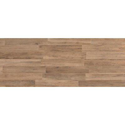 Travel 8 x 48 Porcelain Wood Look Tile in South Gold