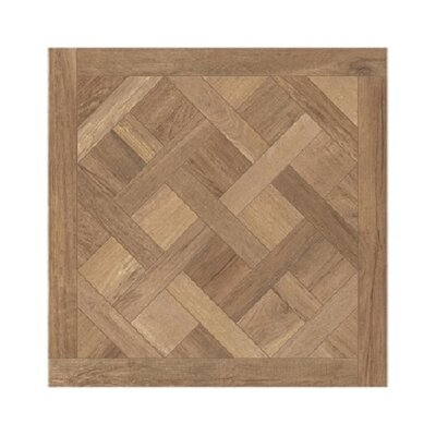 Travel Cassettone D�cor 24 x 24 Porcelain Wood Look Tile in South Gold