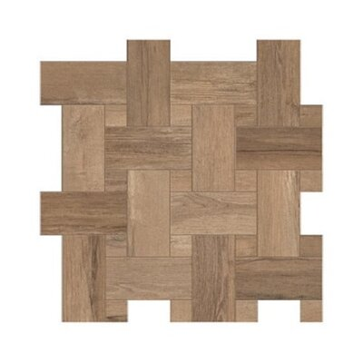 Travel Intreccio D�cor 12 x 12 Porcelain Wood Look Tile in South Gold