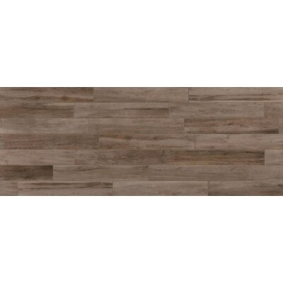 Travel 6 x 48 Porcelain Wood Look Tile in West Brown