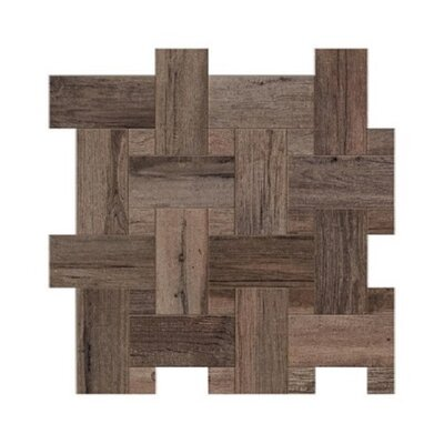 Travel Intreccio D�cor 12 x 12 Porcelain Wood Look Tile in West Brown