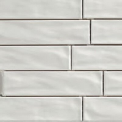 Organic Brick 3 x 12 Porcelain Subway Tile in Ice