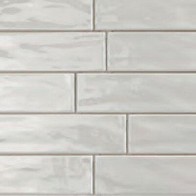 Organic Brick 3 x 12 Porcelain Subway Tile in Ice Shiny