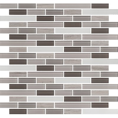Ocean Pearl Random Sized Glass Mosaic Tile in Taupe