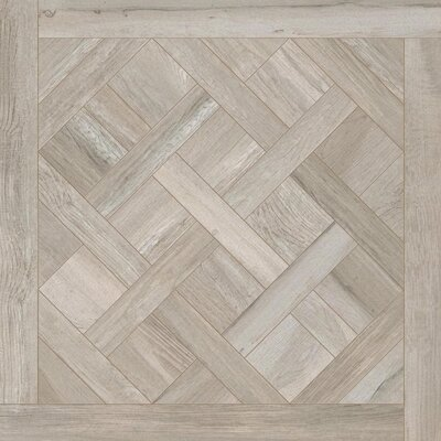 Travel Cassettone D�cor 24 x 24 Porcelain Wood Look Tile in East Gray
