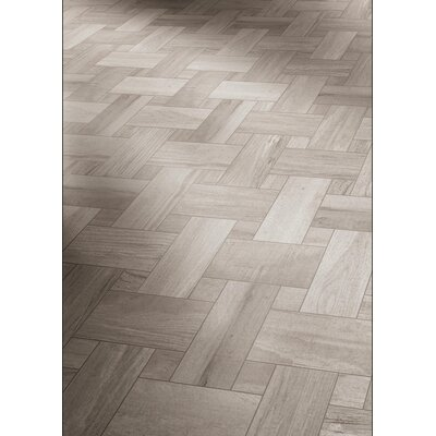 Travel Intreccio D�cor 12 x 12 Porcelain Wood Look Tile in East Gray