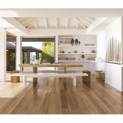 Travel 6 x 48 Porcelain Wood Look Tile in South Gold