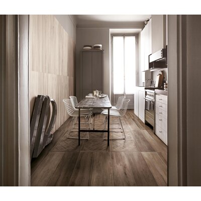 Travel Cassettone D�cor 24 x 24 Porcelain Wood Look Tile in West Brown