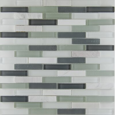 Bar 0.63 x 3 Natural Stone Mosaic Tile in Bianco White