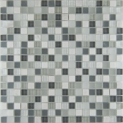 0.63 x 0.63 Natural Stone Mosaic Tile in Bianco White