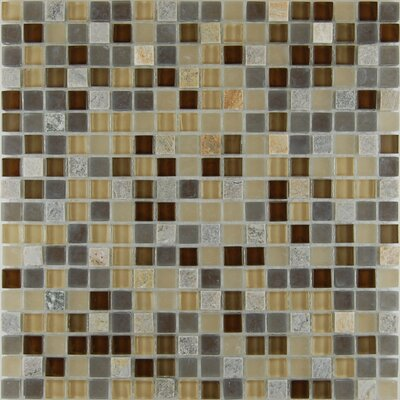 Quartz 0.63 x 0.63 Natural Stone Mosaic Tile in Chocolate