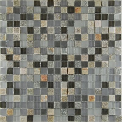 0.63 x 0.63 Natural Stone Mosaic Tile in Gray