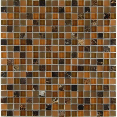 Mix Castano 0.63 x 0.63 Natural Stone Mosaic Tile in Mocha
