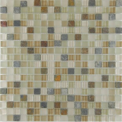 0.63 x 0.63 Natural Stone Mosaic Tile in Riverstone
