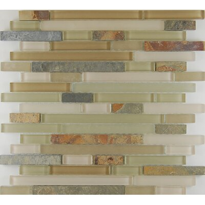 Bar Random Sized x 0.63 Natural Stone Mosaic Tile in Riverstone