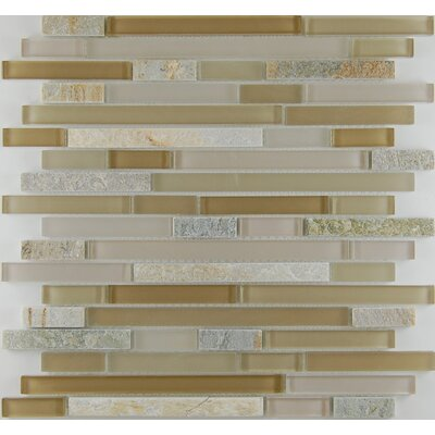 Bar Random Sized x 0.63 Natural Stone Mosaic Tile in Sandstone