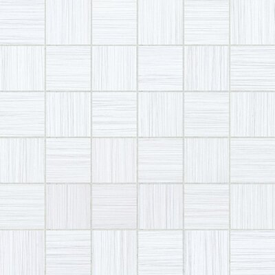 Bamboo 2 x 2 Porcelain Mosaic Tile in Blanc Linen