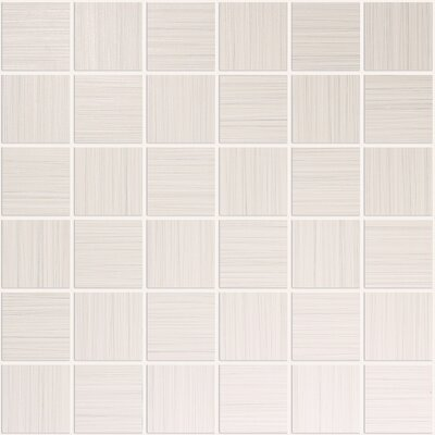 Bamboo 2 x 2 Porcelain Mosaic Tile in Creme Linen