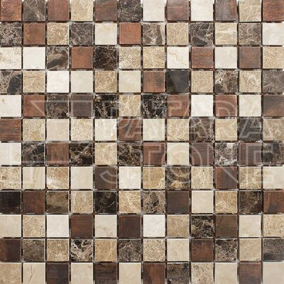 Vintage 1 x 1 Natural Stone Mosaic Tile in Copper