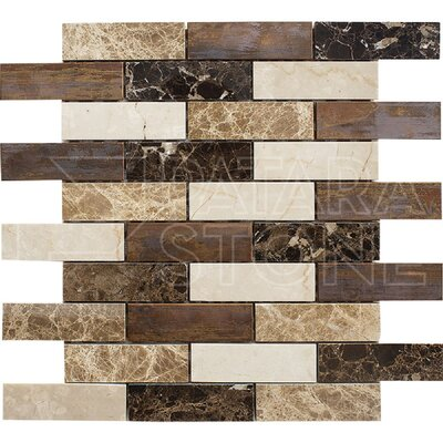 Vintage 1 x 4 Natural Stone Mosaic Tile in Copper