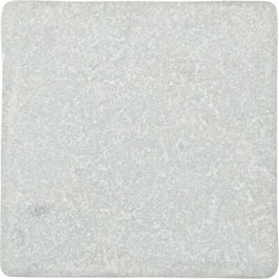 Valorem Tumbled 4 x 4 Marble Field Tile in White Carrara