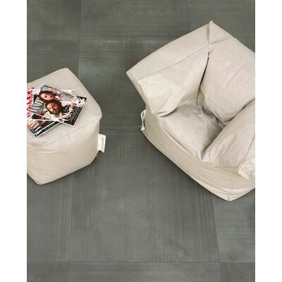 Organic Rectified 12 x 24 Procelain Field Tile in Dark Gray