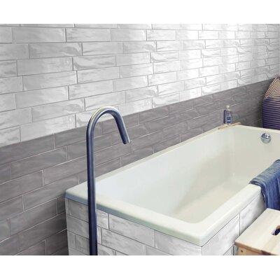 Organic Brick 3 x 12 Porcelain Subway Tile in Ice