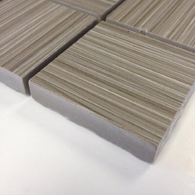Bamboo 2 x 2 Porcelain Mosaic Tile in Gris Linen
