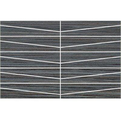 Bamboo Oblong 12 x 24 Porcelain Field Tile in Noir Linen